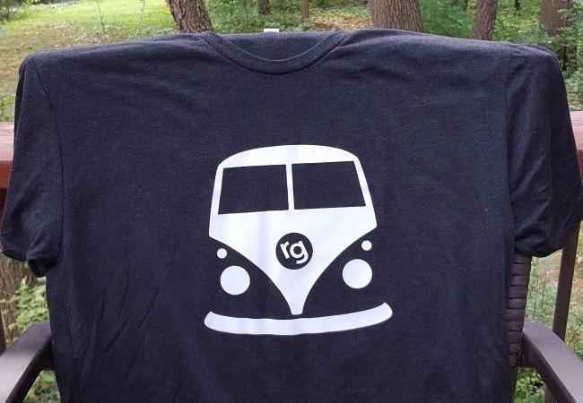 rollin gelato vw bus t shirt black rollin 39 gelato. Black Bedroom Furniture Sets. Home Design Ideas